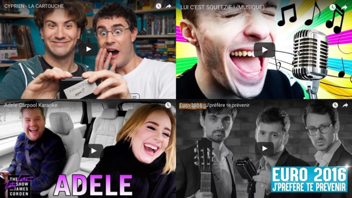 YouTube�: Les vid�os les plus vues en France en 2016