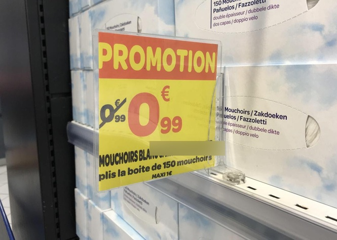 Attention, grosse promo dans un magasin de St-Pierre !