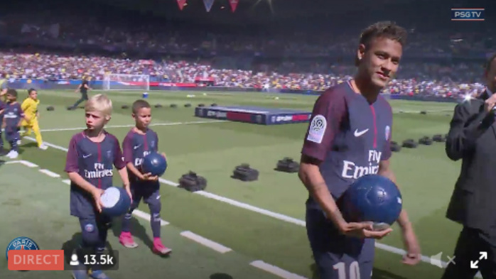 Capture d'écran Twitter PSG Officiel