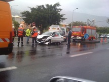 Accident sur le boulevard Sud: gros embouteillages