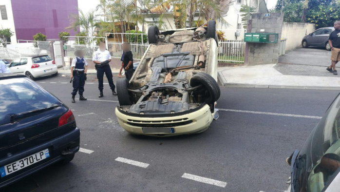 Accident improbable dans le quartier de Montgaillard