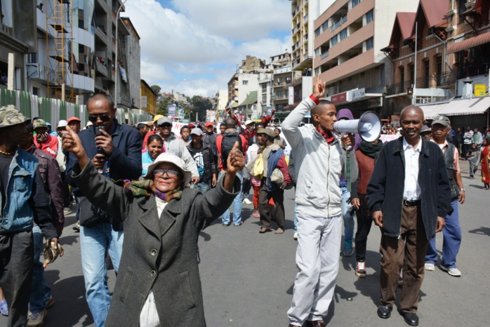 ... Une manifestation dans les rues d Antananarivo (photo d archives) 213a040be77