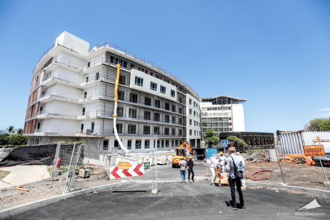 Visite du chantier d'extension et de modernisation du CHU Sud Réunion