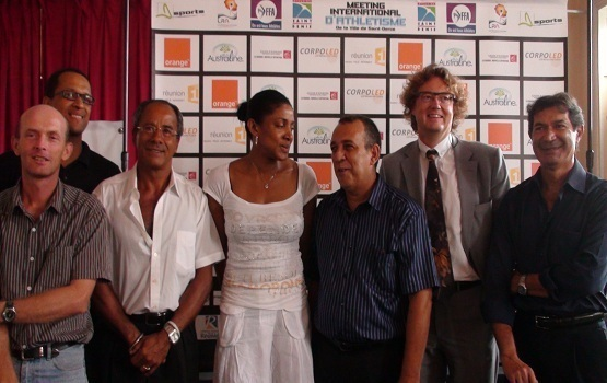 Marie-José Perec, marraine du meeting international d'athlétisme de Saint-Denis