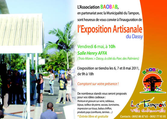 Exposition artisanale du Dassy ce week-end au Tampon