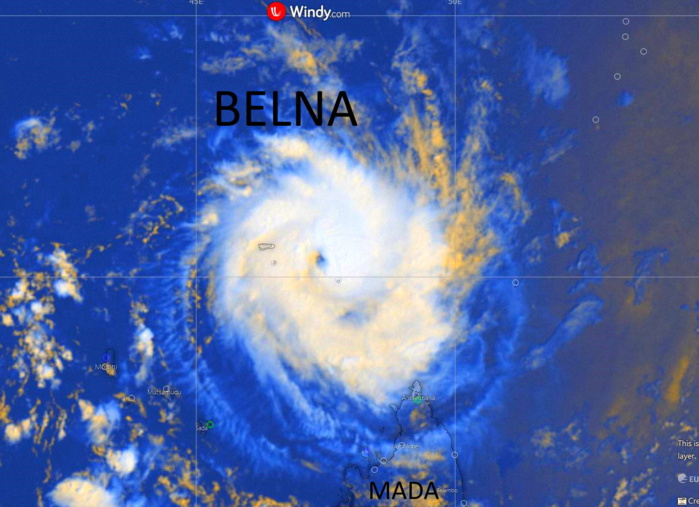 Le cyclone tropical BELNA s'intensifie à 440km de Mayotte, menace directe possible pour Mada lundi