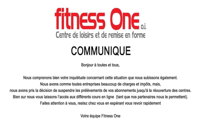 Photo FB Fitness One