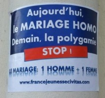 Des stickers contre le mariage gay à Saint-Denis
