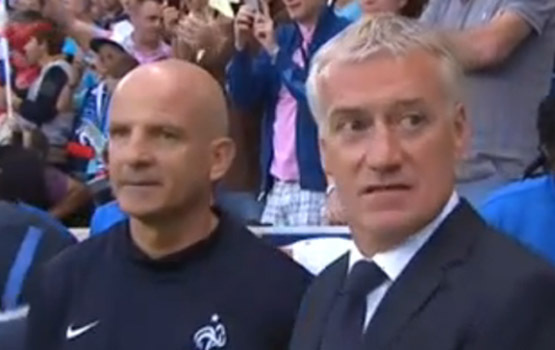 Didier Deschamps et son adjoint Guy Stéphan