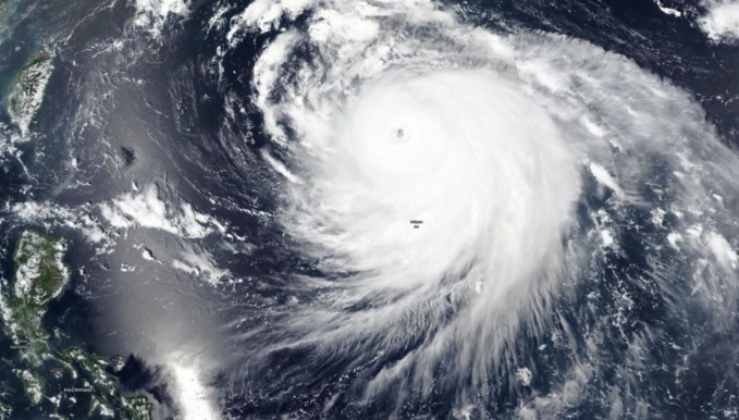 NASA-NOAA's Suomi NPP satellite captured a visible image of Super Typhoon Haishen moving through the Philippine Sea on Sept. 4. Credit: NASA Worldview, Earth Observing System Data and Information System (EOSDIS)