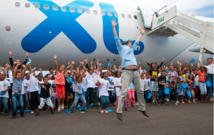 Association 1000 sourires: 85 marmailles touchent le ciel avec XL Airways