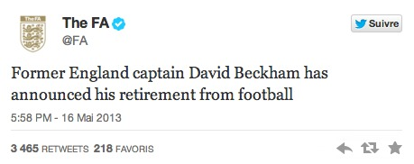 Ligue 1 : David Beckham dit stop