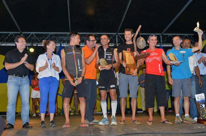Les podiums du Grand Raid en images