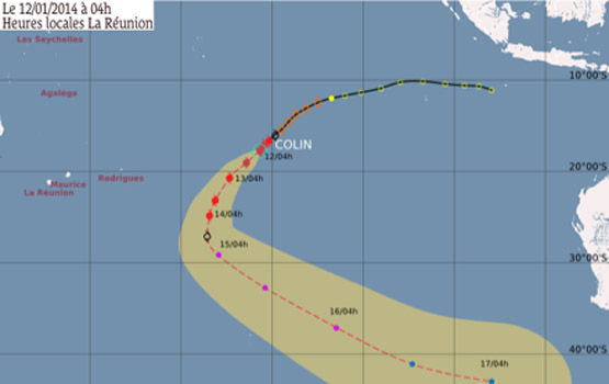 Colin devient cyclone tropical intense