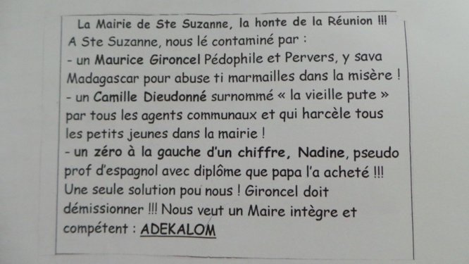 Tracts insultants : Maurice Gironcel porte plainte