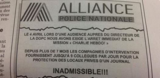 Copie du document Alliance publié par le Canard enchaîné