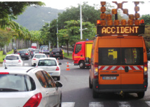 Boulevard Sud à St-Denis: Accident et gros embouteillages