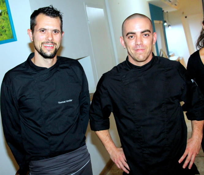Le chef Thomas Verdier et son second Julien Ali