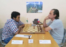 Photo DR: L'Indien Dinesh Sharma contre Sylvain Lorans (7e)
