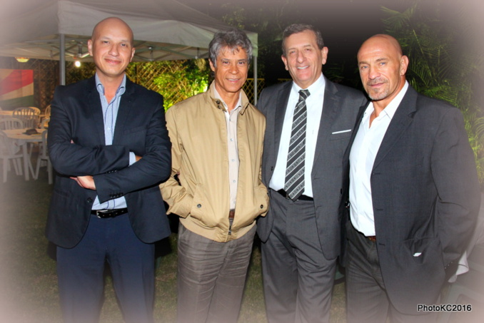 Hugues Maillot, Alain Armand, Marc Paoli et Thierry