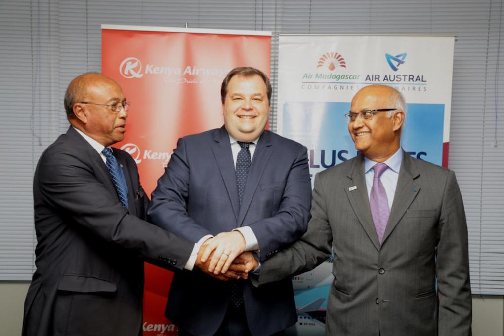 "Air Austral, Air Madagascar et Kenya Airways officialisent leur ""accord de partenariat privilégié"""