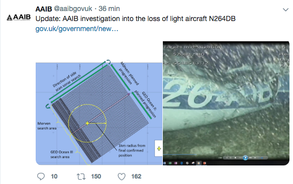 Photo : Twitter UK Air Accidents Investigation Branch