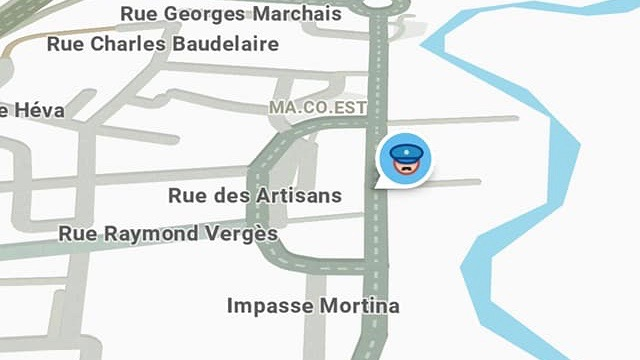 "Capture d'écran - application ""Waze"""