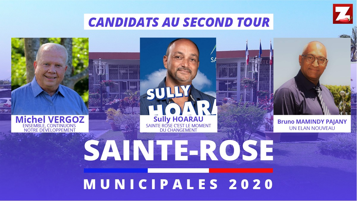 Ste-Rose: Bruno Mamindy-Pajany pousse Michel Vergoz au second tour, Sully Hoarau en arbitre