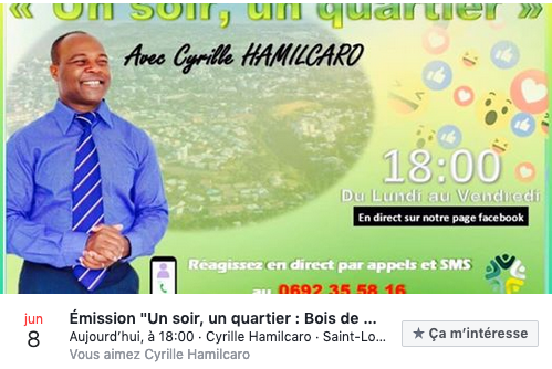 "St-Louis : Cyrille Hamilcaro invente les ""e-meetings"""
