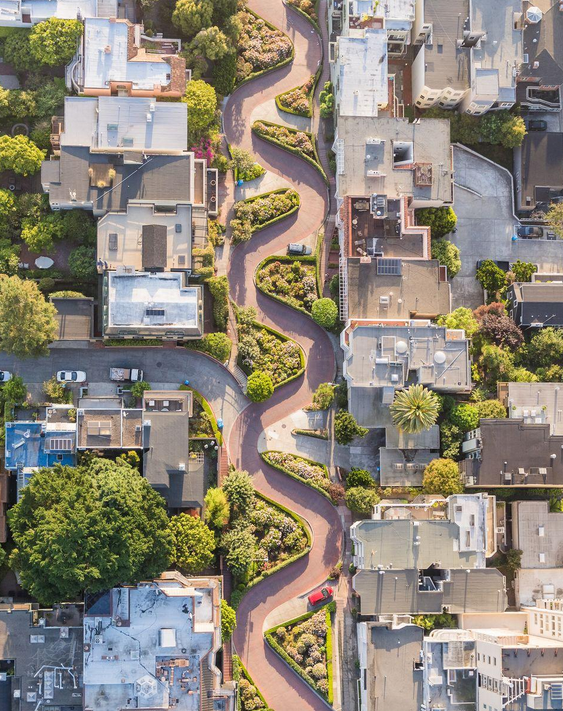 Lombard Street de Toby Harriman, San Francisco, Etats-Unis (@NationalGeographic)