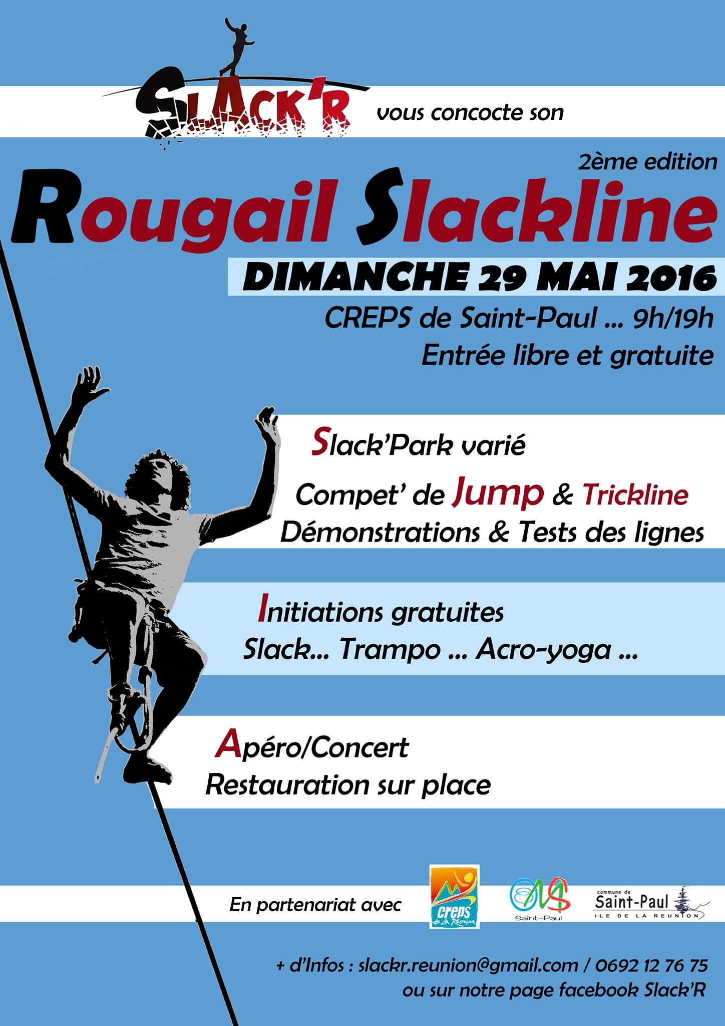 Seconde édition du Rougail Slackline