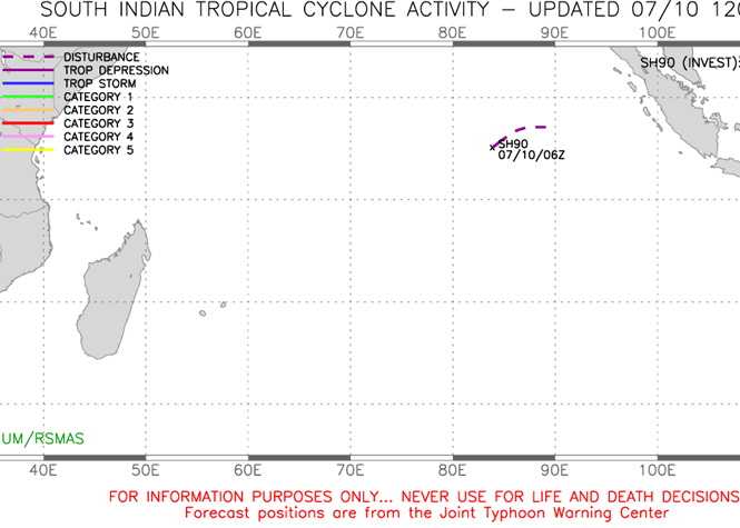 Illustration Cyclone Océan Indien